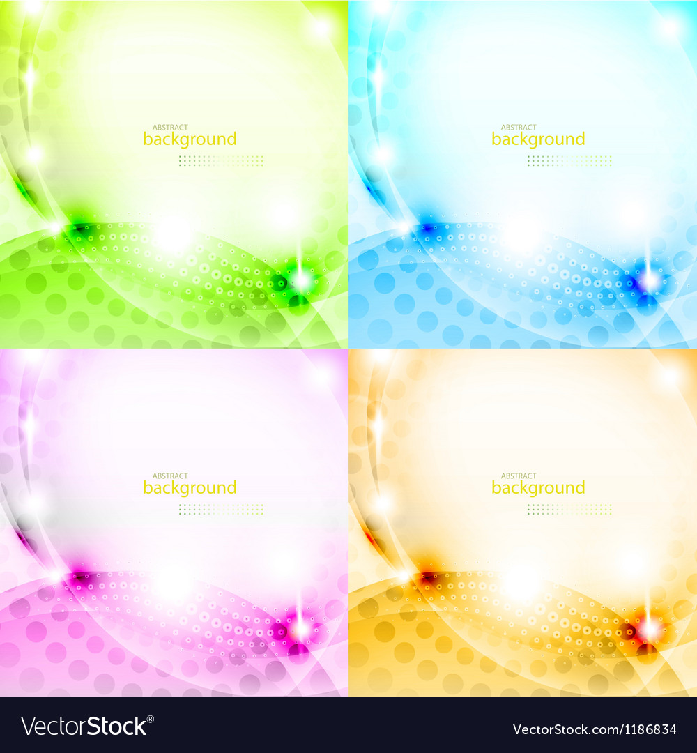 Shiny abstract background set vector | Price: 1 Credit (USD $1)