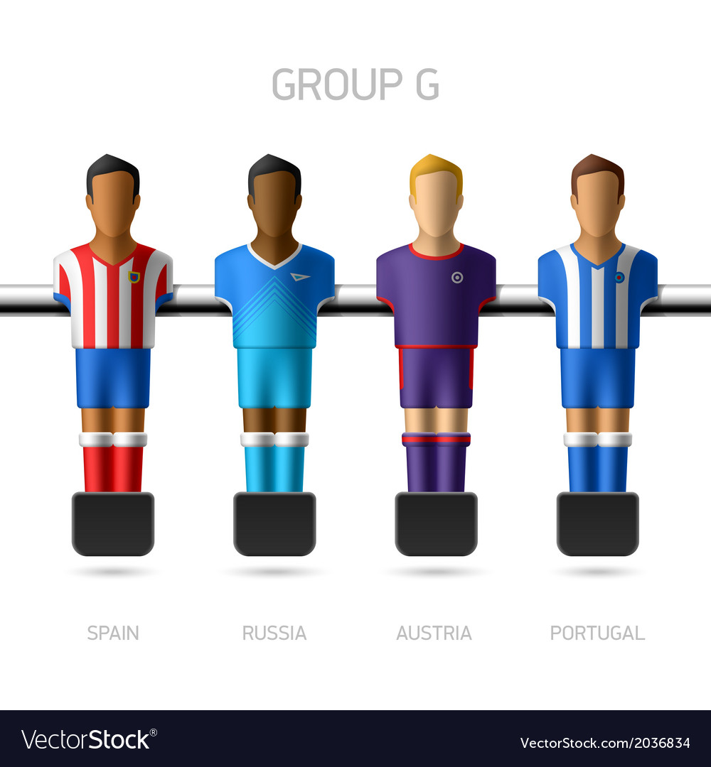 Table football foosball players group g vector | Price: 1 Credit (USD $1)