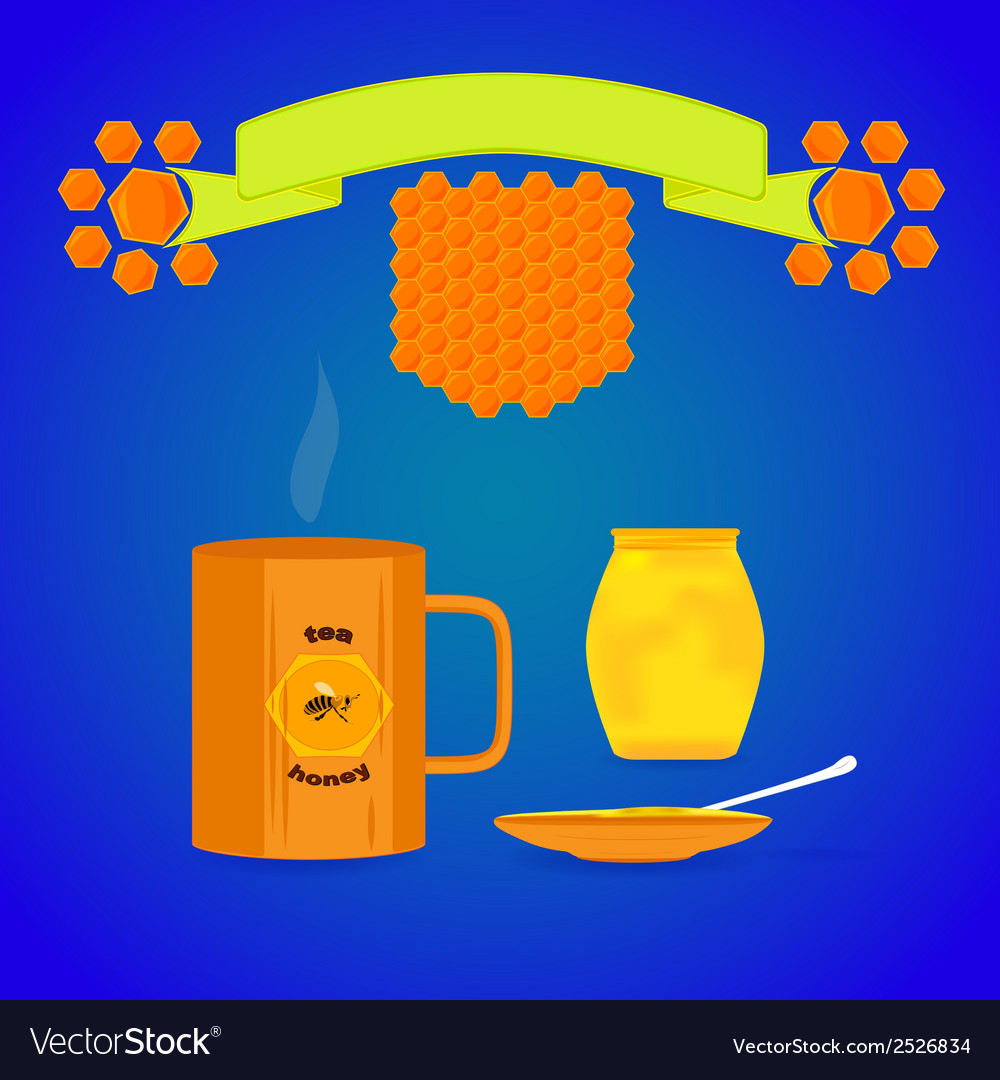Tea with honey vector | Price: 1 Credit (USD $1)