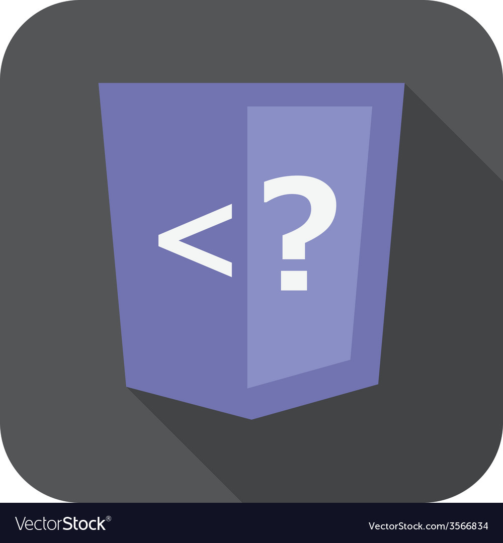Violet shield with php programming language vector | Price: 1 Credit (USD $1)