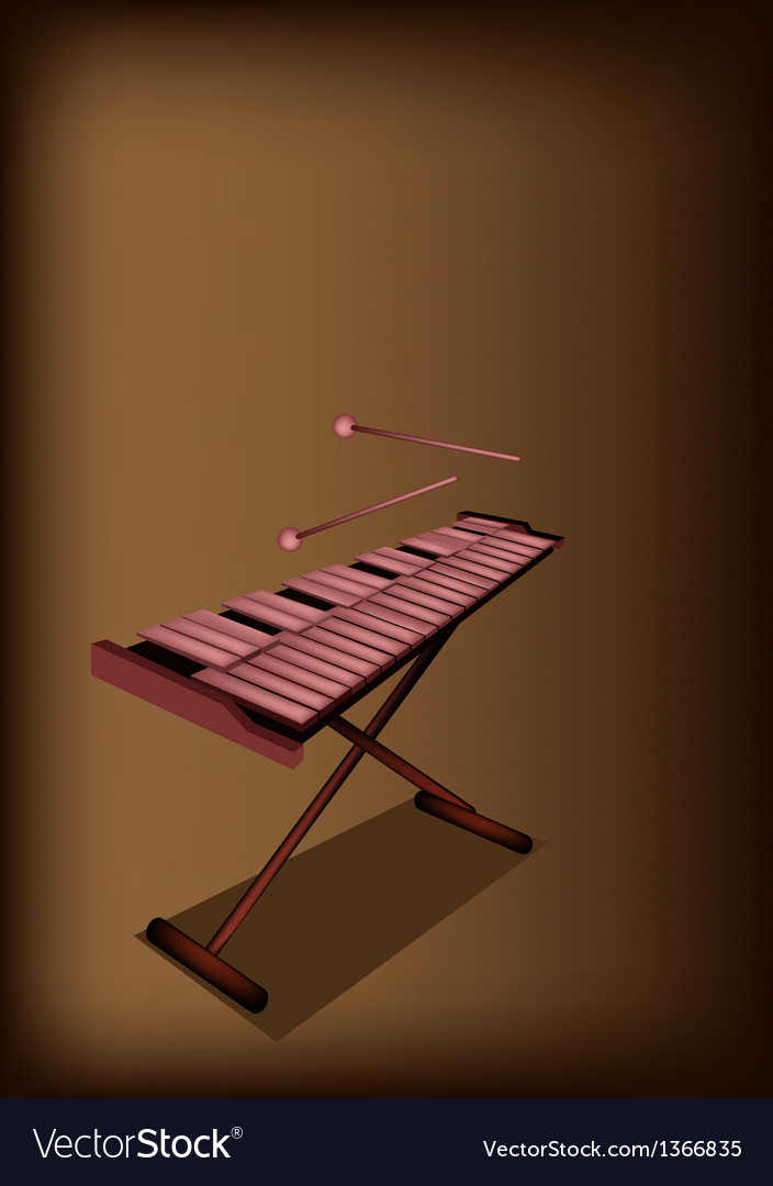 A retro xylophone on dark brown background vector   Price: 1 Credit (USD $1)