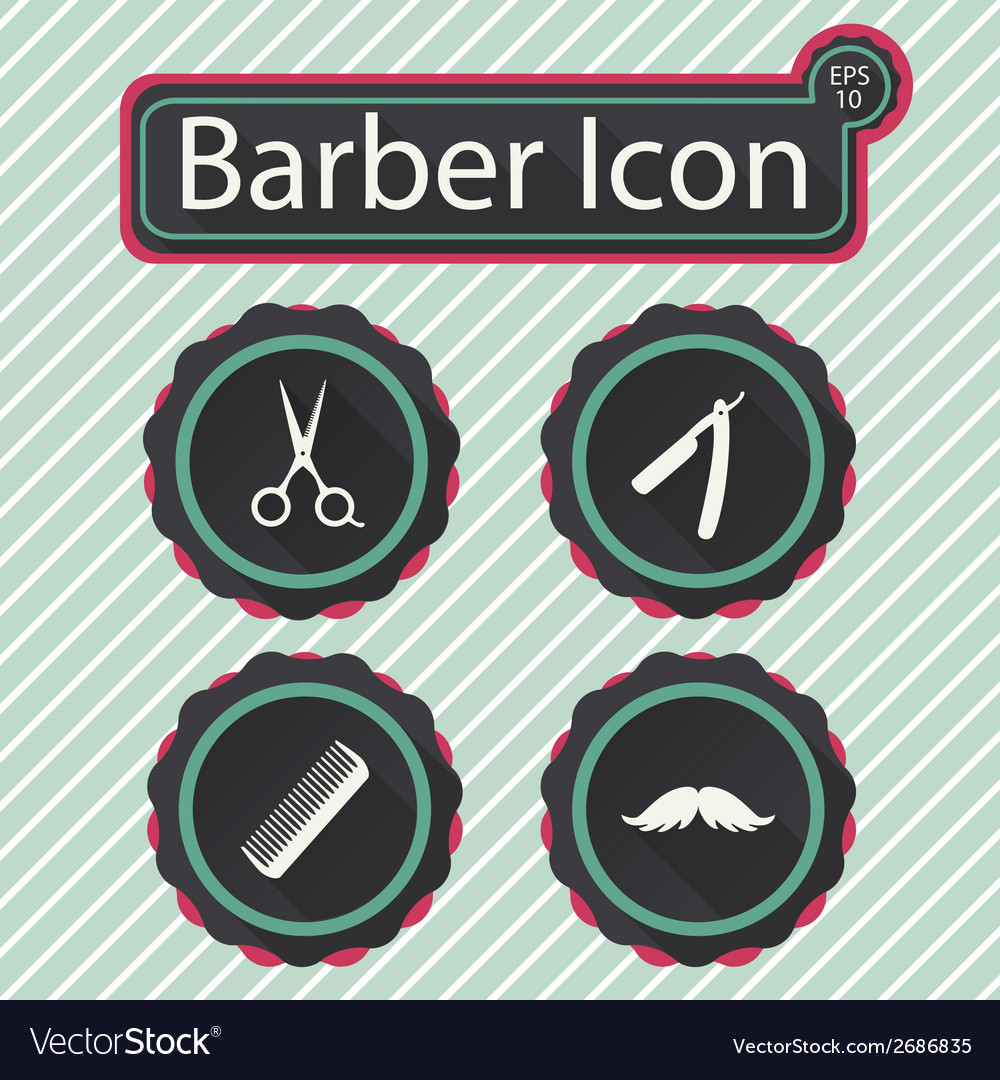 Barber icon vector | Price: 1 Credit (USD $1)