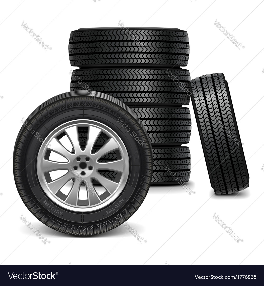 Car wheels vector | Price: 1 Credit (USD $1)