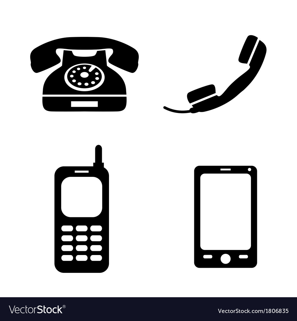 Collection of phone icons vector | Price: 1 Credit (USD $1)
