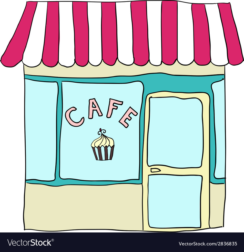 Cute street cafe vector | Price: 1 Credit (USD $1)