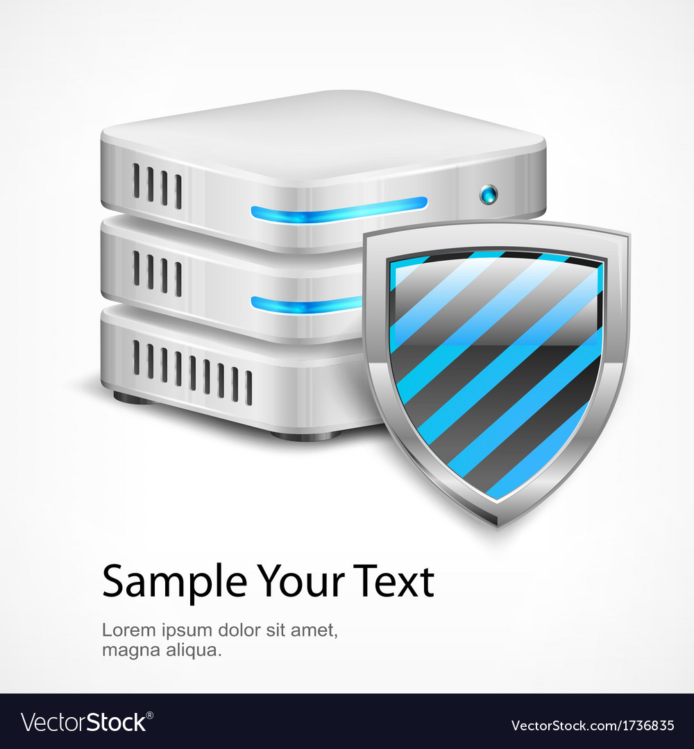 Database protection concept vector | Price: 1 Credit (USD $1)