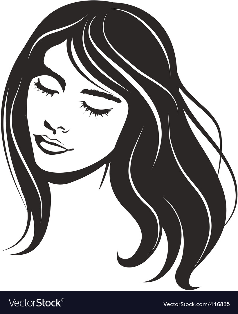 vector face girl portrait vector | Price: 1 Credit (USD $1)