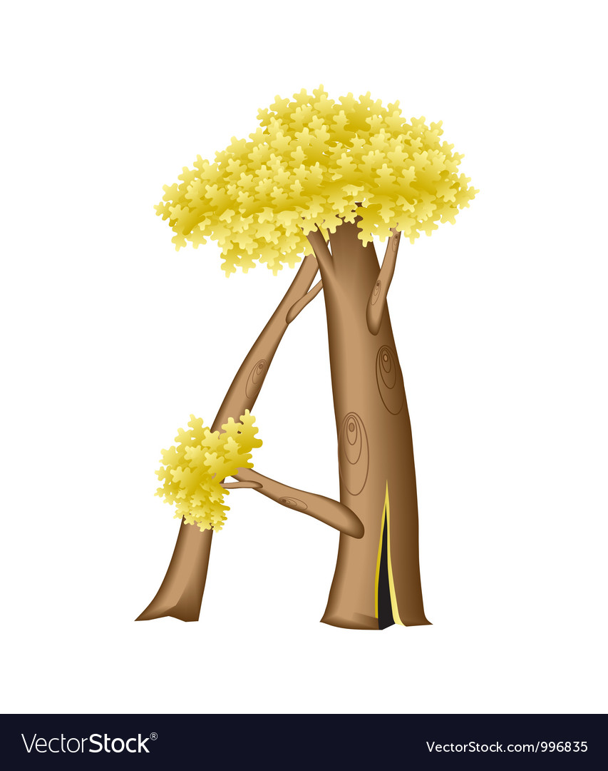 Letter in the form of tree vector | Price: 1 Credit (USD $1)