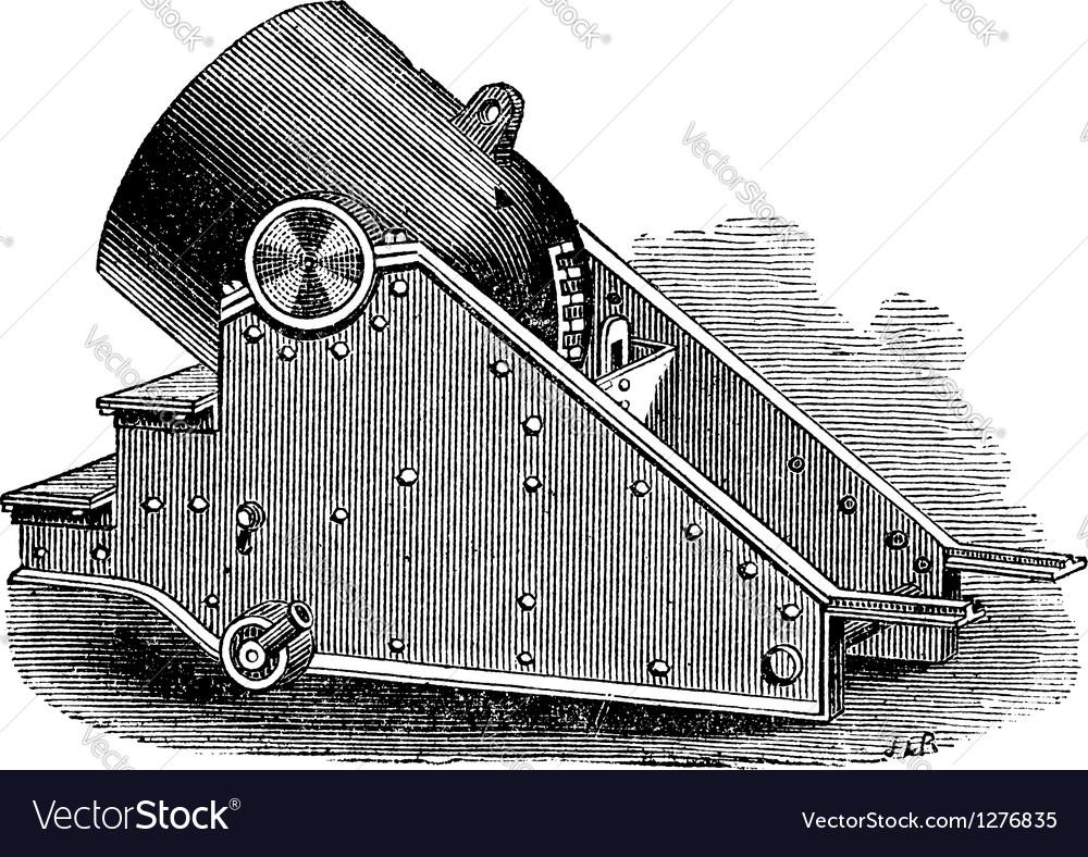 Mortar cannon vintage engraving vector | Price: 1 Credit (USD $1)