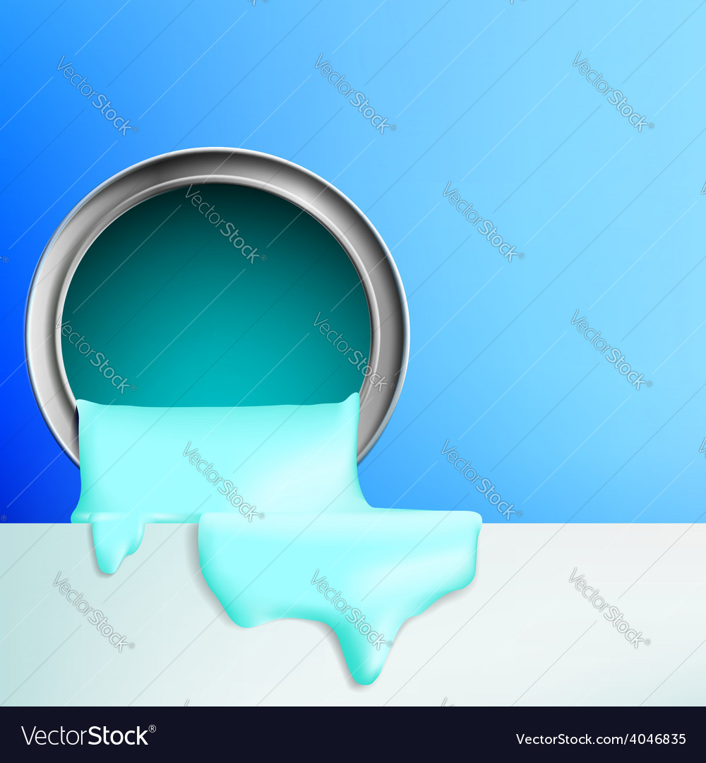 Paint flows from the bucket vector | Price: 1 Credit (USD $1)