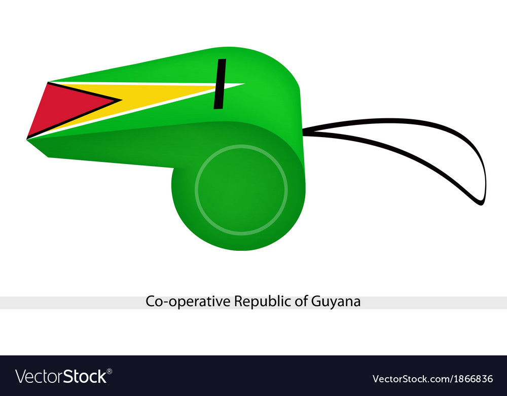 A whistle of cooperative republic of guyana vector | Price: 1 Credit (USD $1)