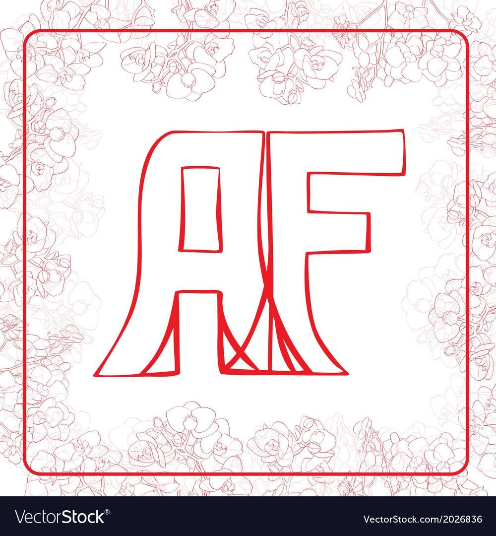 Af monogram vector   Price: 1 Credit (USD $1)