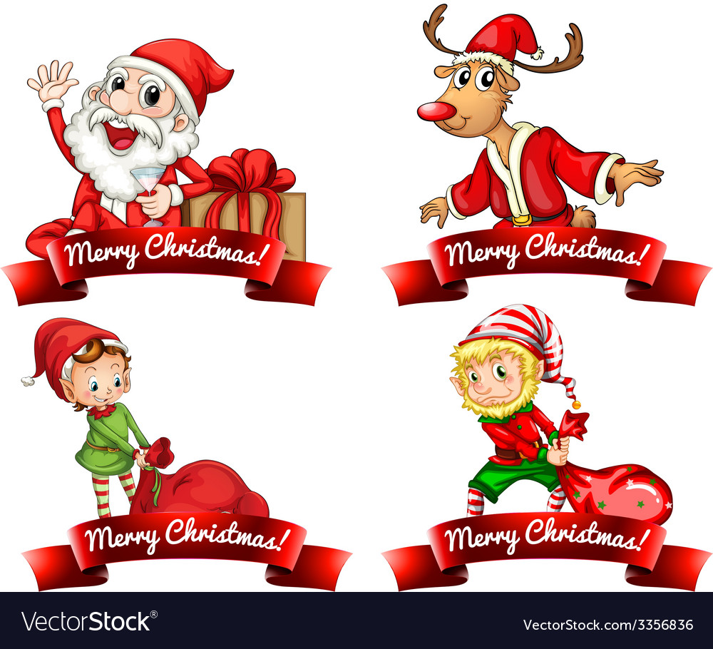 Christmas labels vector | Price: 3 Credit (USD $3)