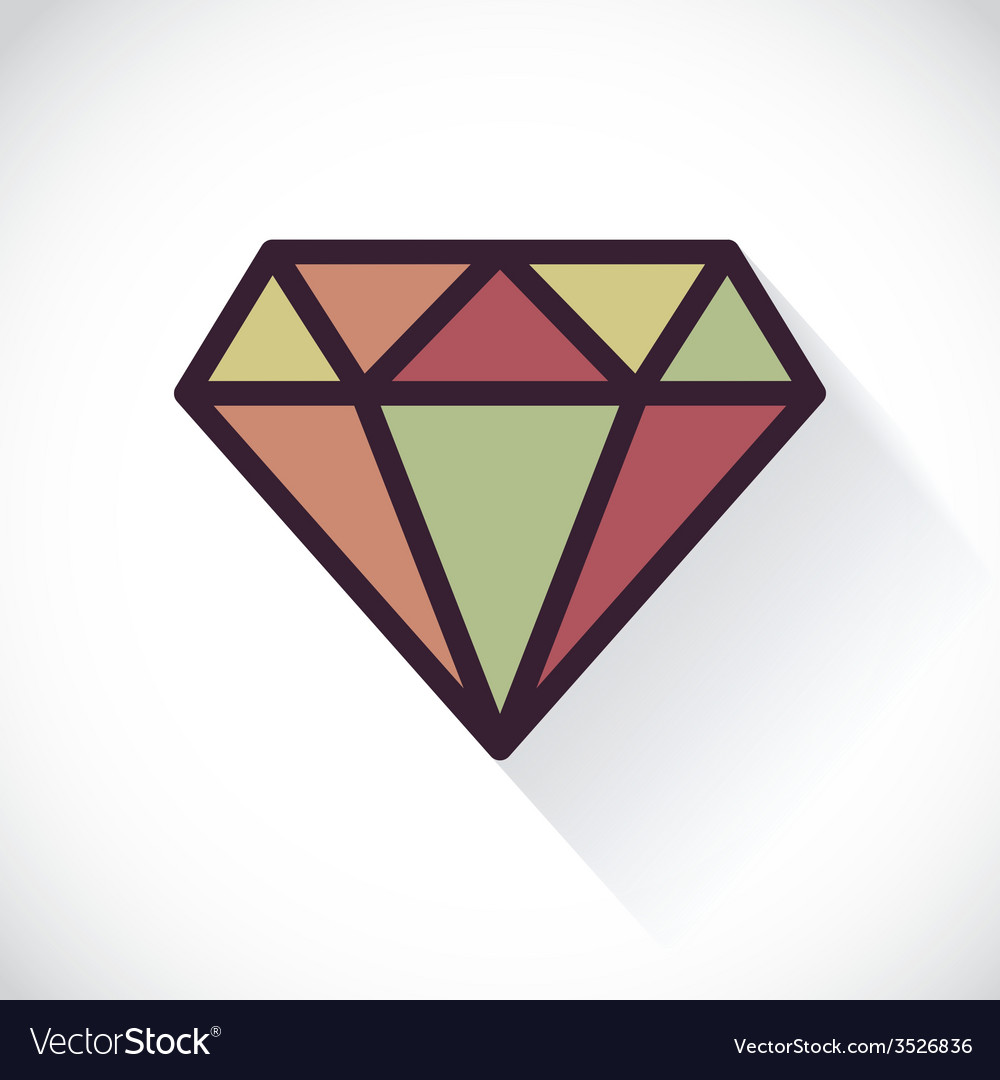 Diamond symbol vector | Price: 1 Credit (USD $1)