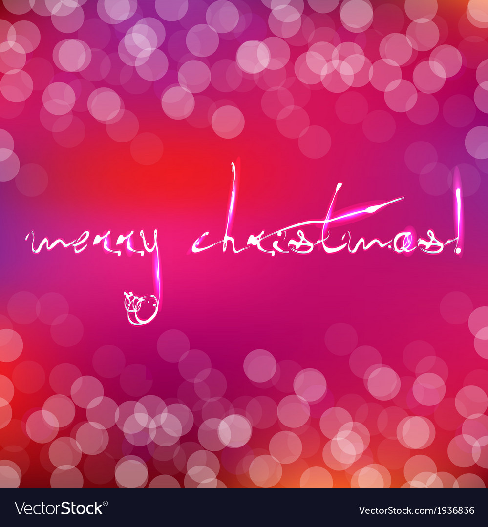 Pink christmas card with bokeh vector | Price: 1 Credit (USD $1)