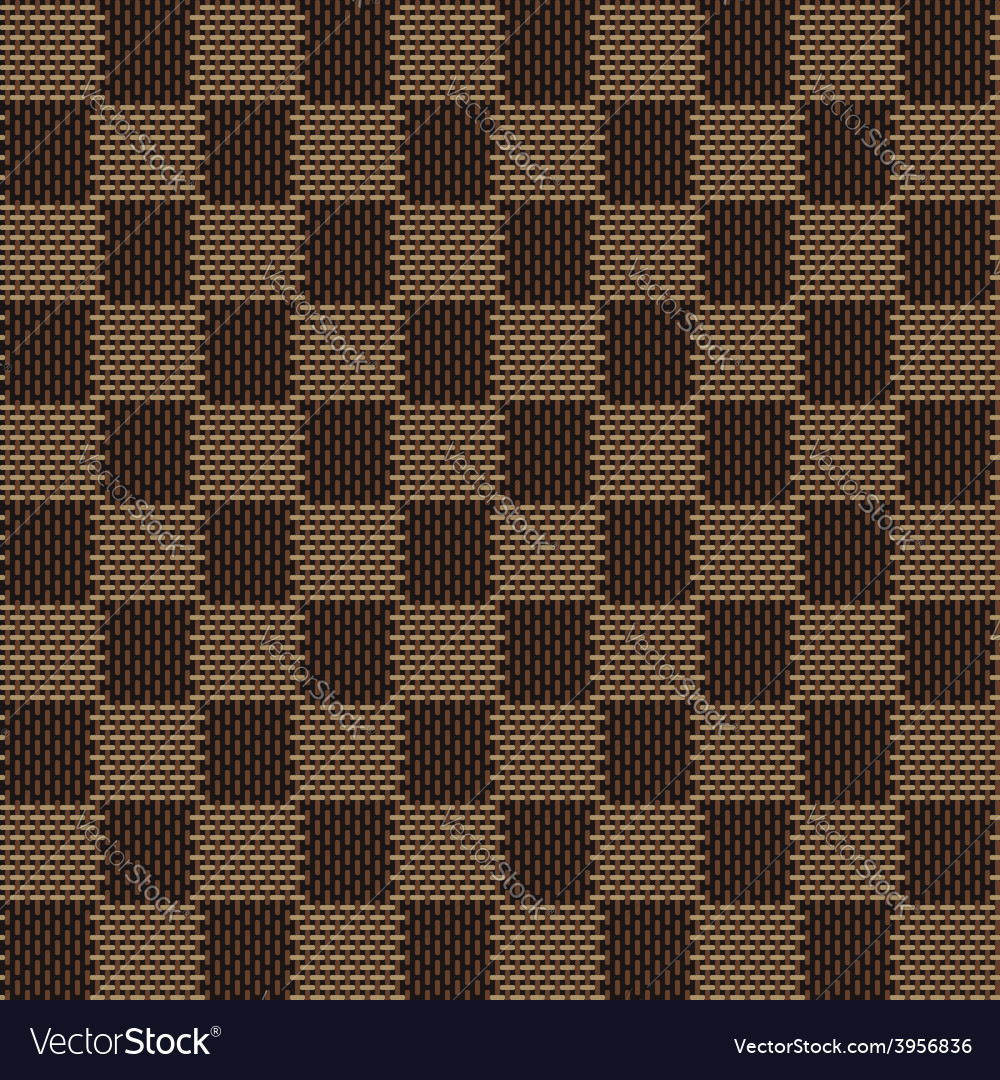Square brown beige seamless fabric texture pattern vector | Price: 1 Credit (USD $1)
