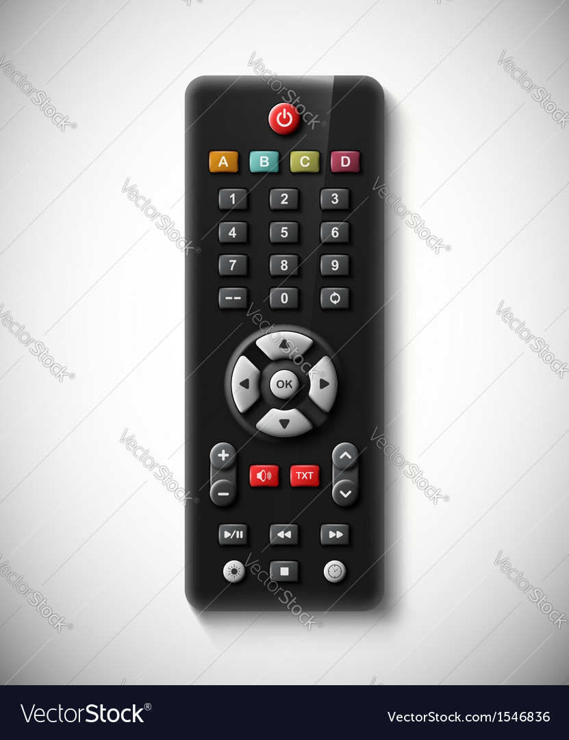 Tv remote vector | Price: 3 Credit (USD $3)