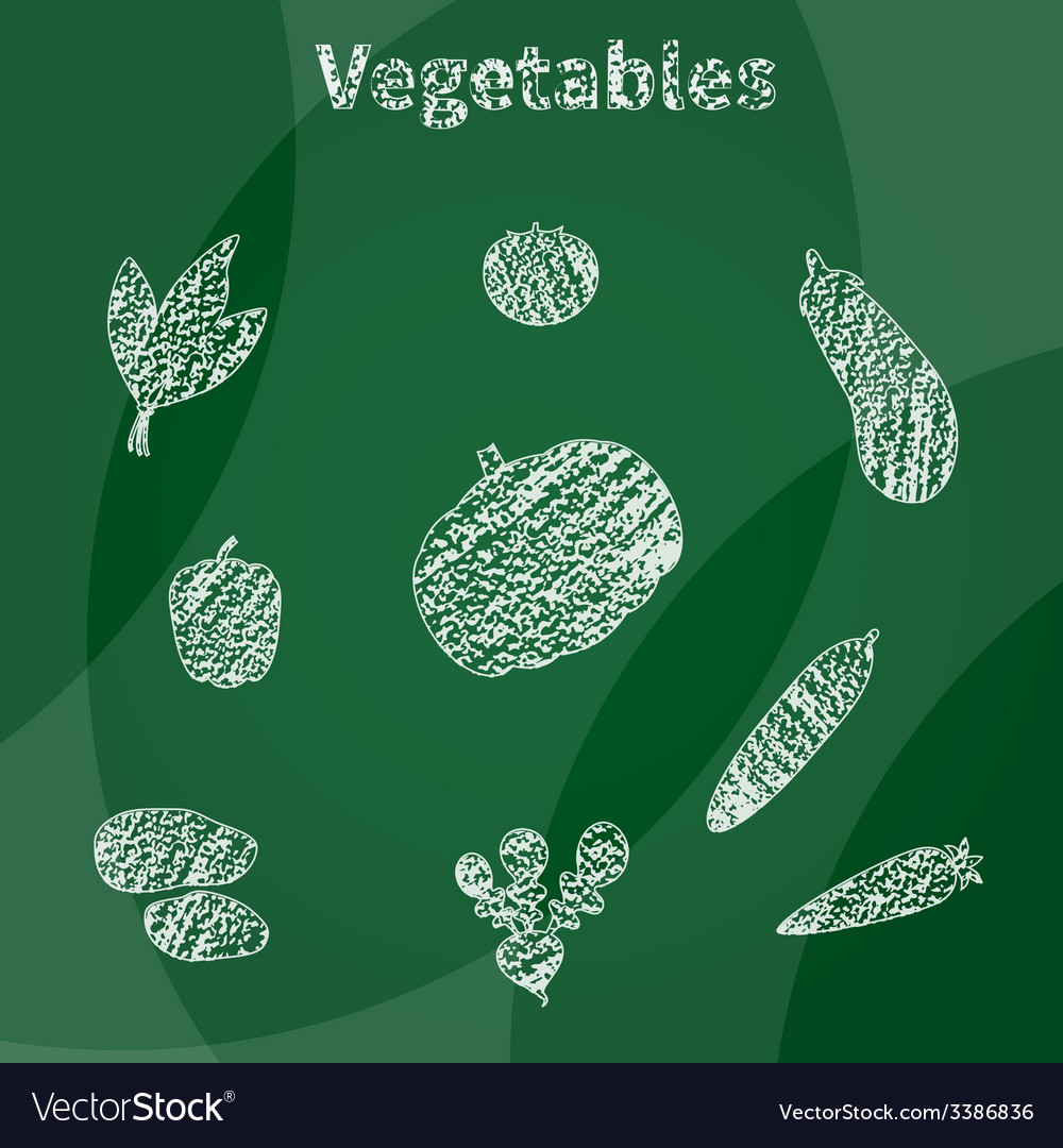 White vegetables vector | Price: 1 Credit (USD $1)