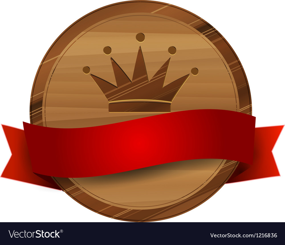 Wooden royal label vector | Price: 1 Credit (USD $1)