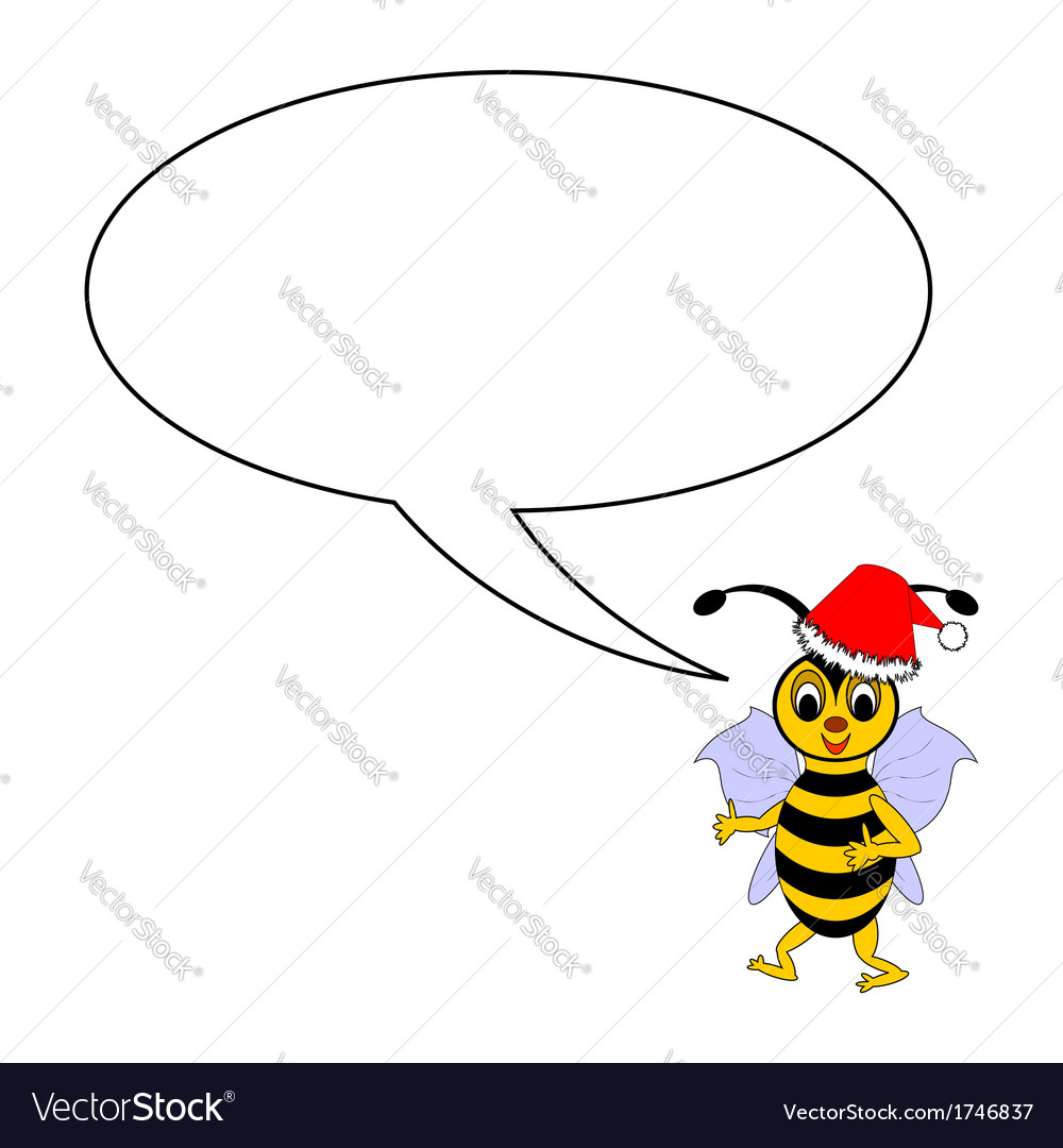 A funny christmas bee with a talking bubble vector | Price: 1 Credit (USD $1)