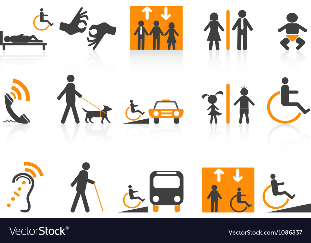 Accessibility icons set vector | Price: 1 Credit (USD $1)