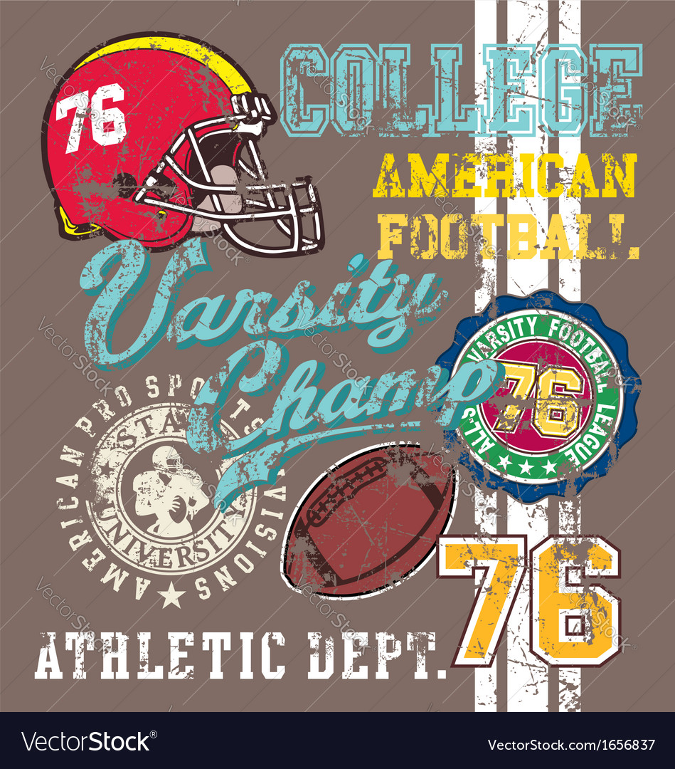 American football varsity vector | Price: 1 Credit (USD $1)
