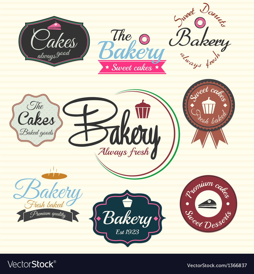 Bakery labels vector | Price: 3 Credit (USD $3)