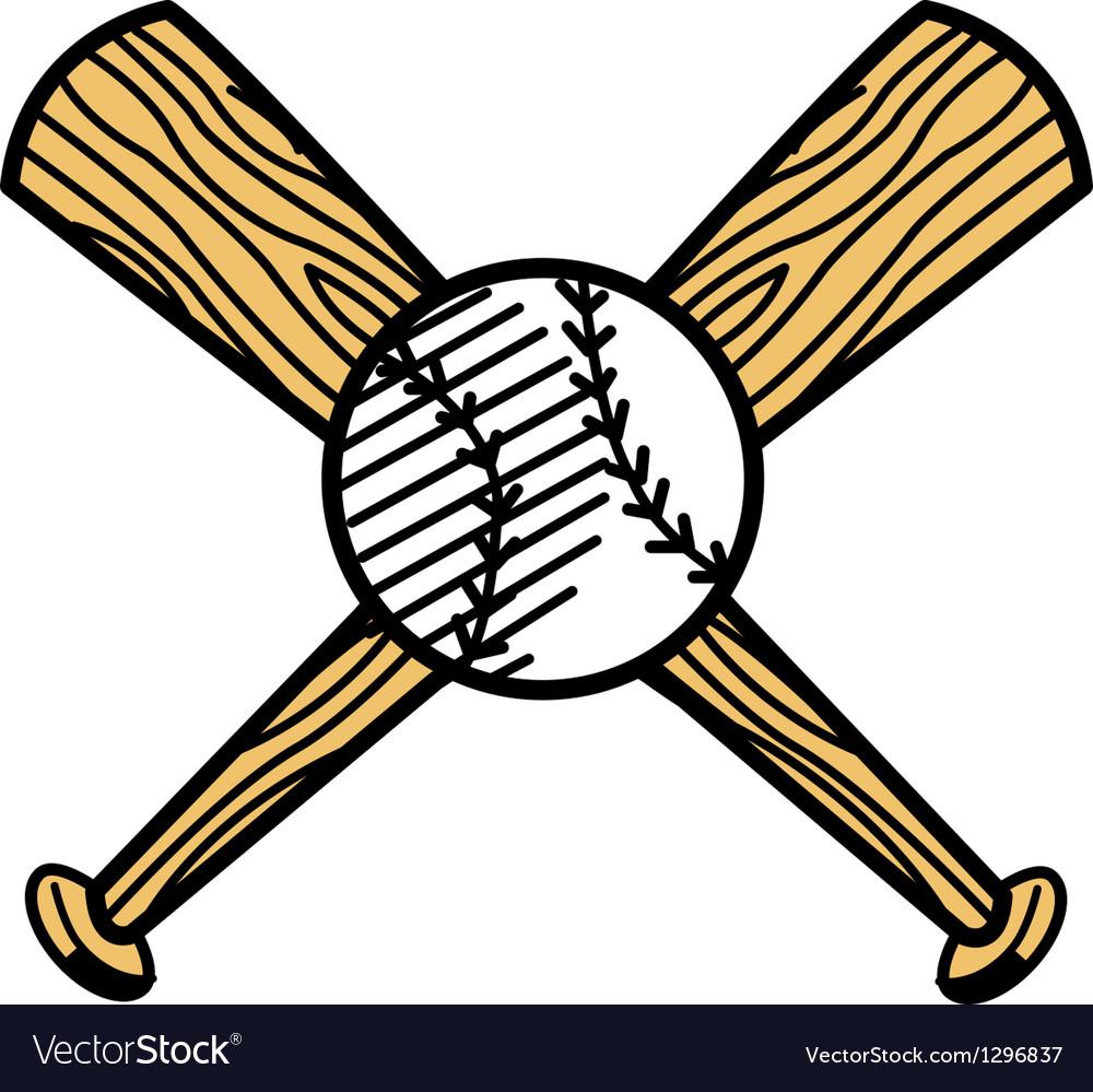 Baseball and bat vector   Price: 1 Credit (USD $1)