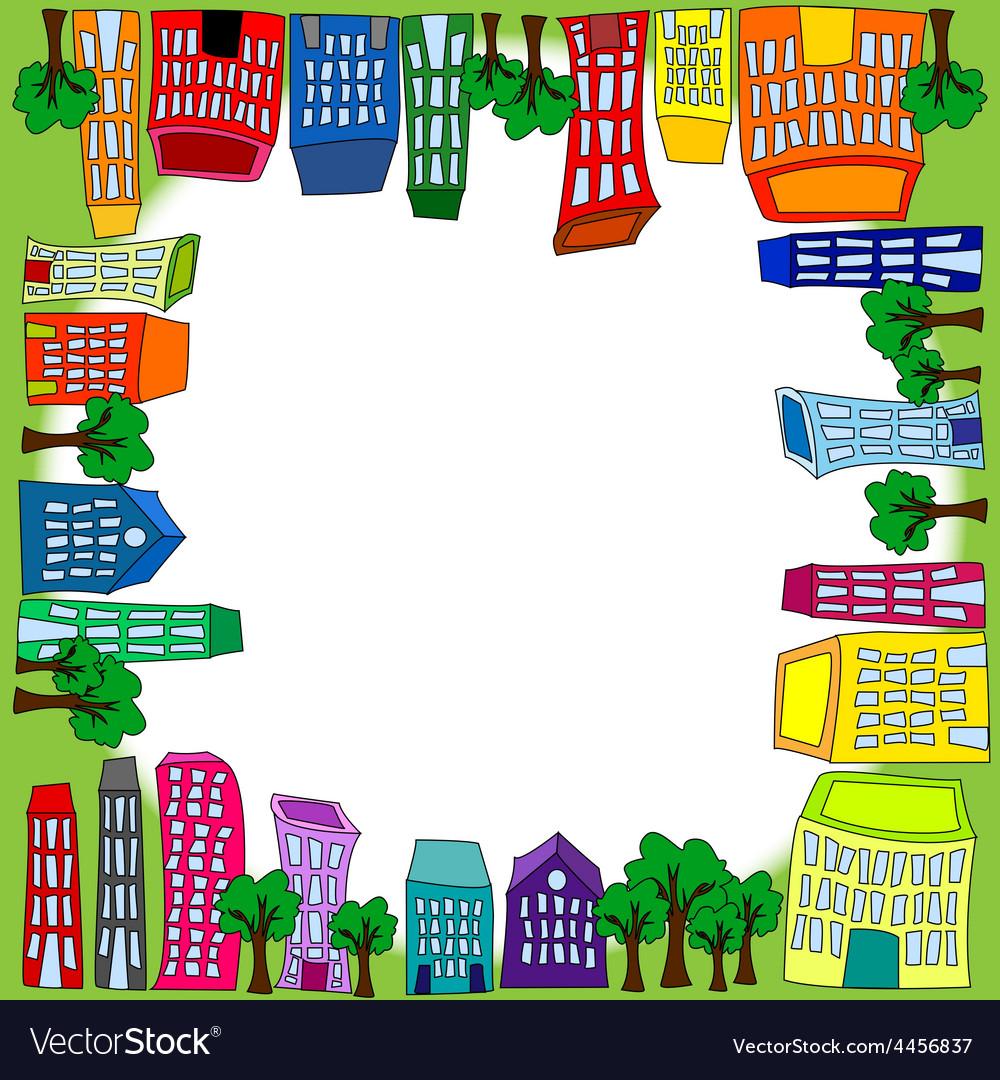 Cityscape square tile vector | Price: 1 Credit (USD $1)