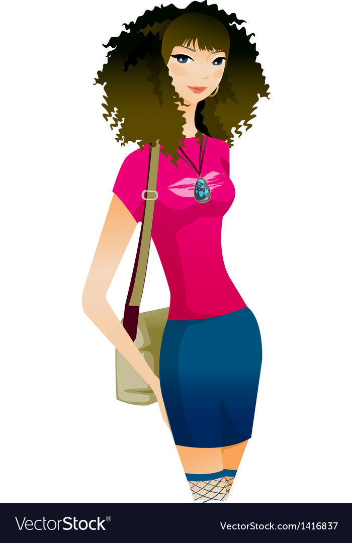Close-up of woman vector | Price: 3 Credit (USD $3)