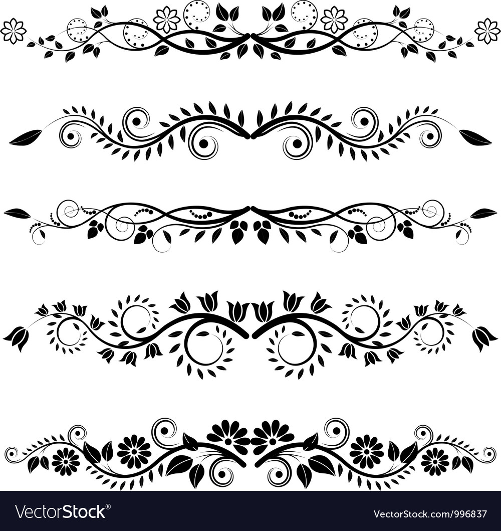 Floral borders and ornaments vector | Price: 1 Credit (USD $1)