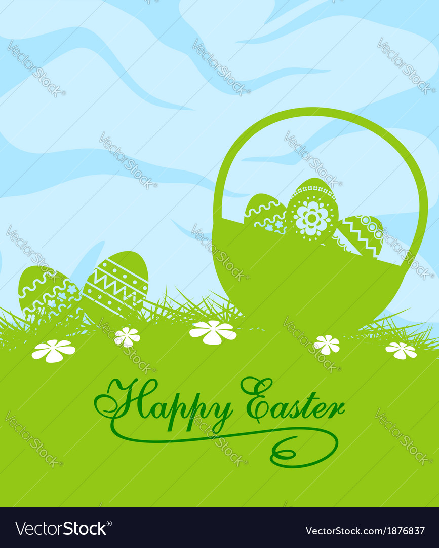 Fresh blue and green easter background vector | Price: 1 Credit (USD $1)