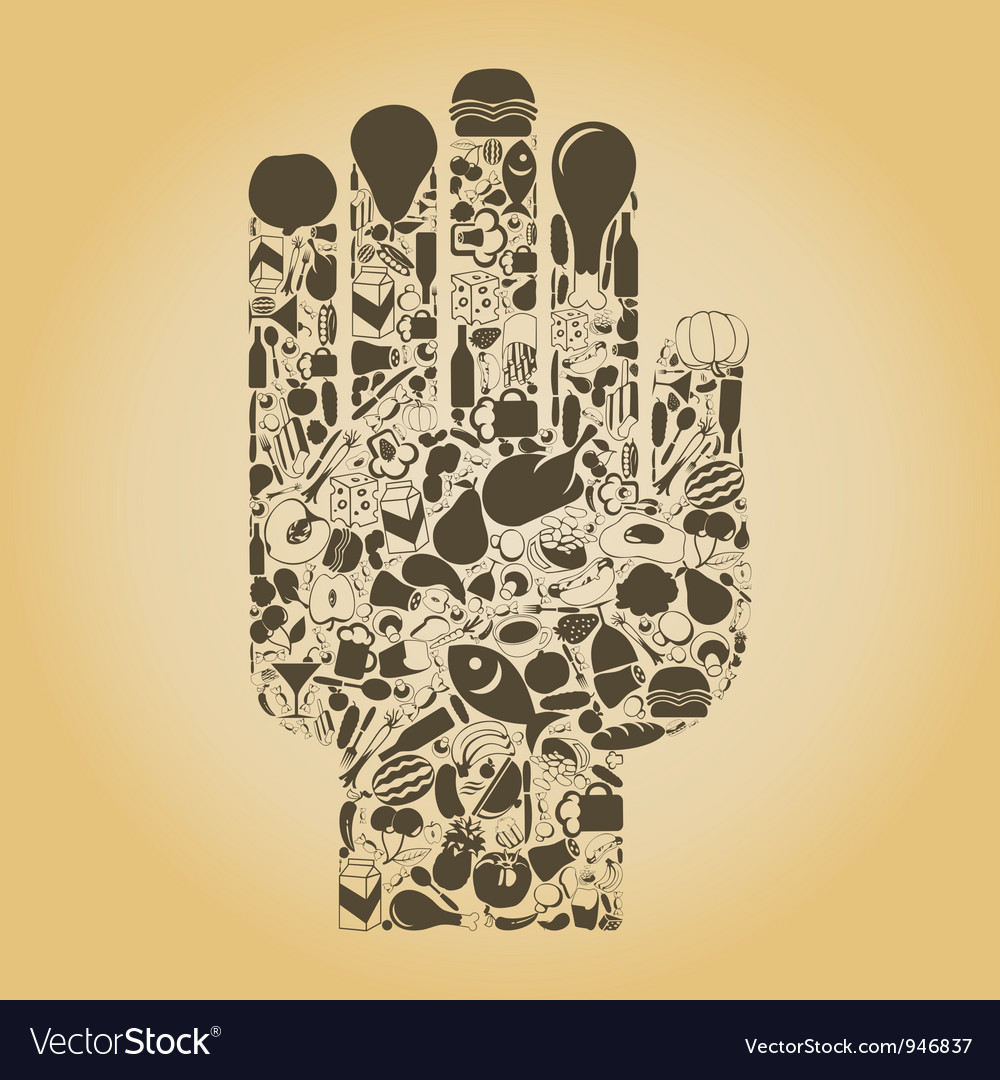 Hand food vector | Price: 1 Credit (USD $1)