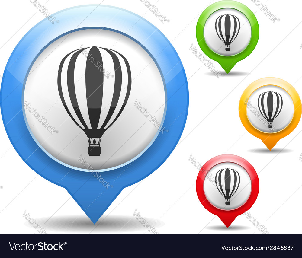 Hot air balloon icon vector | Price: 1 Credit (USD $1)