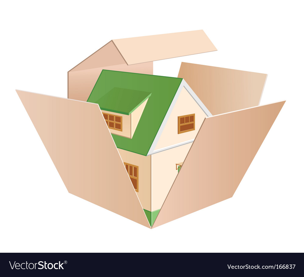 House in a box vector   Price: 1 Credit (USD $1)