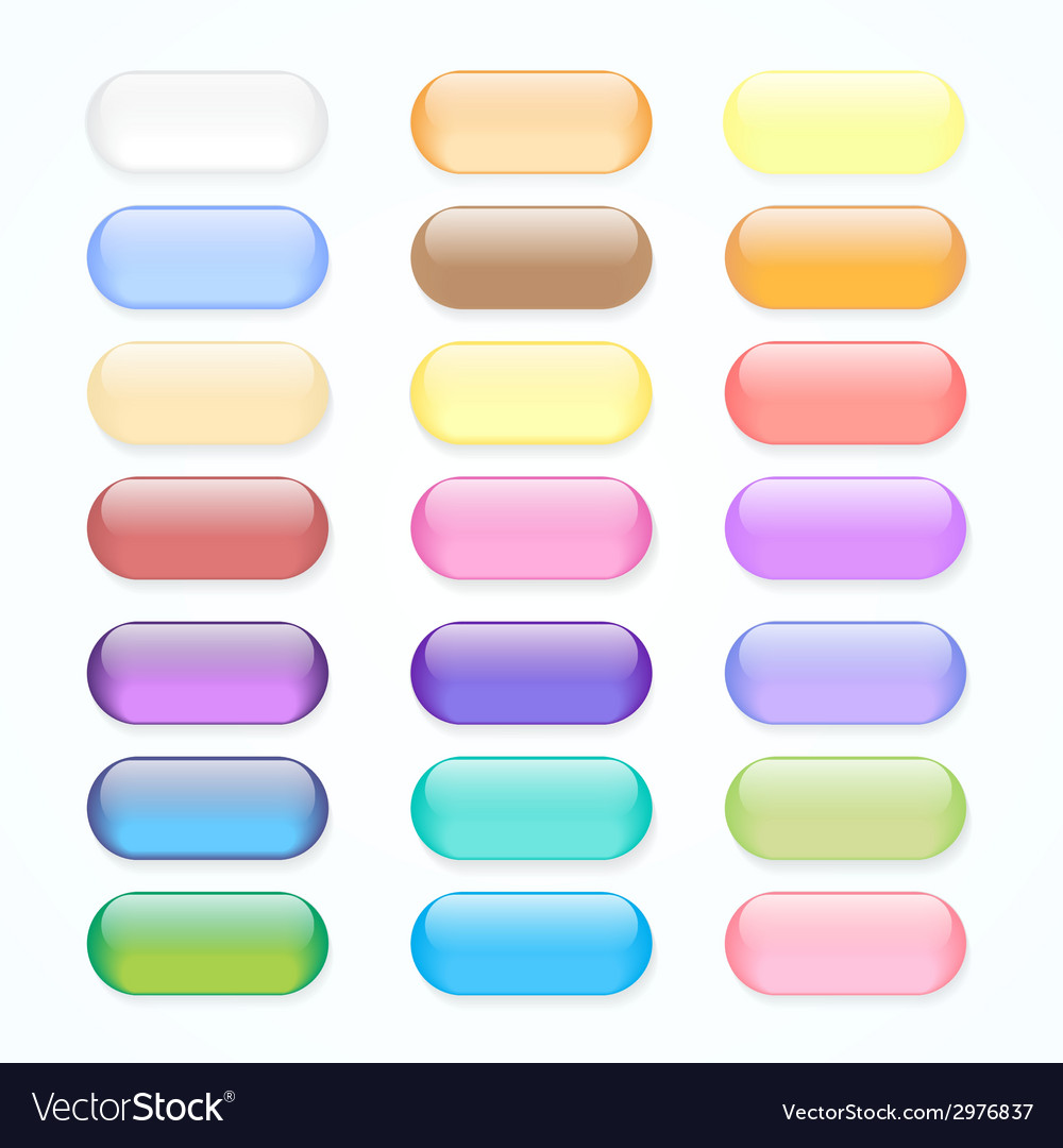 Set of colored web buttons vector | Price: 1 Credit (USD $1)