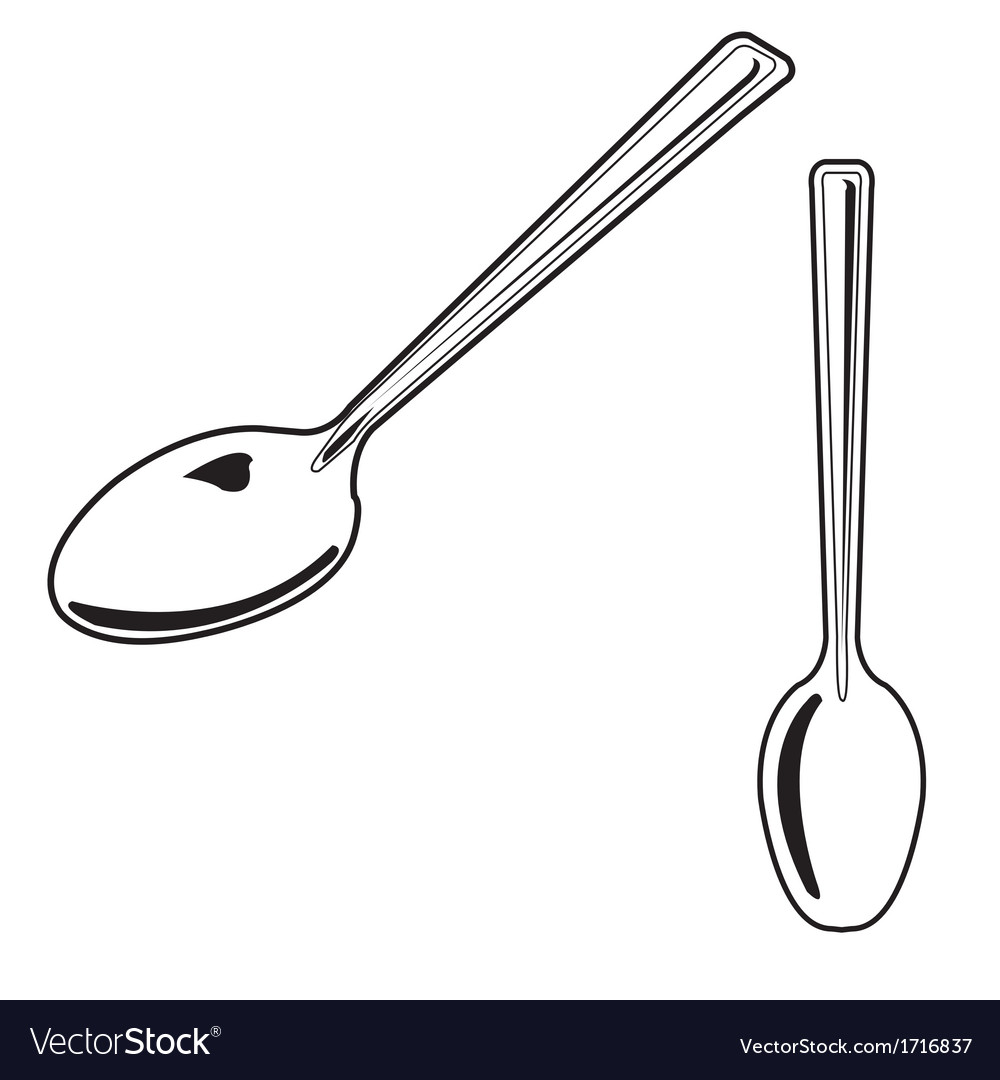 Spoon outline vector | Price: 1 Credit (USD $1)