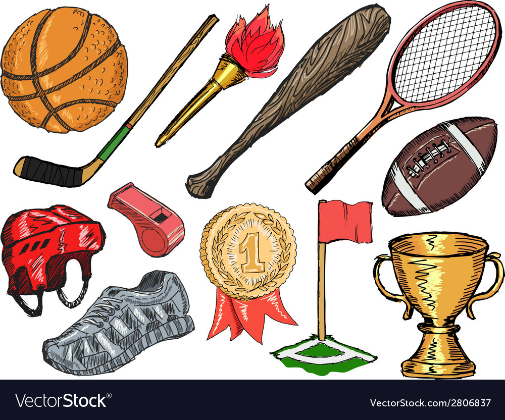 Sport objects vector | Price: 1 Credit (USD $1)