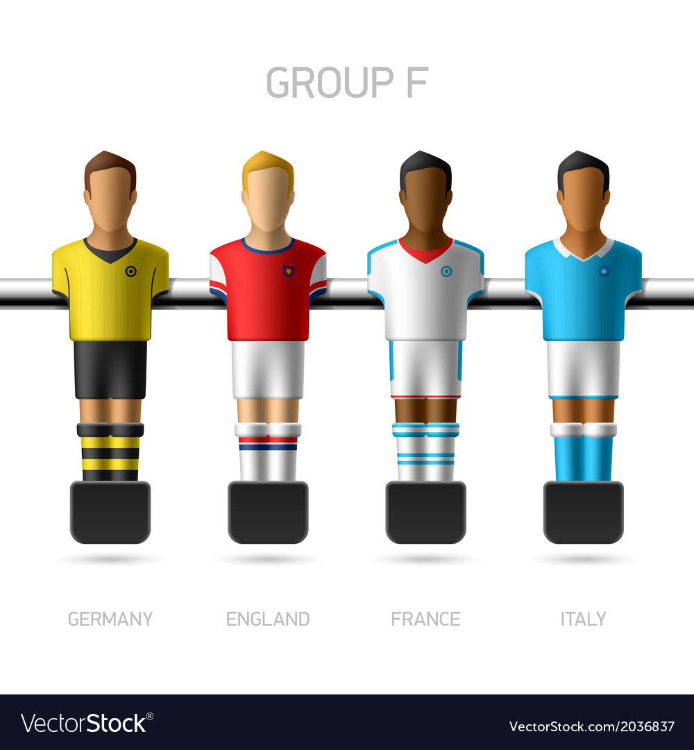 Table football foosball players group f vector | Price: 1 Credit (USD $1)