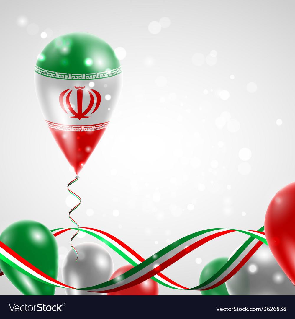 Flag of iran on balloon vector   Price: 1 Credit (USD $1)
