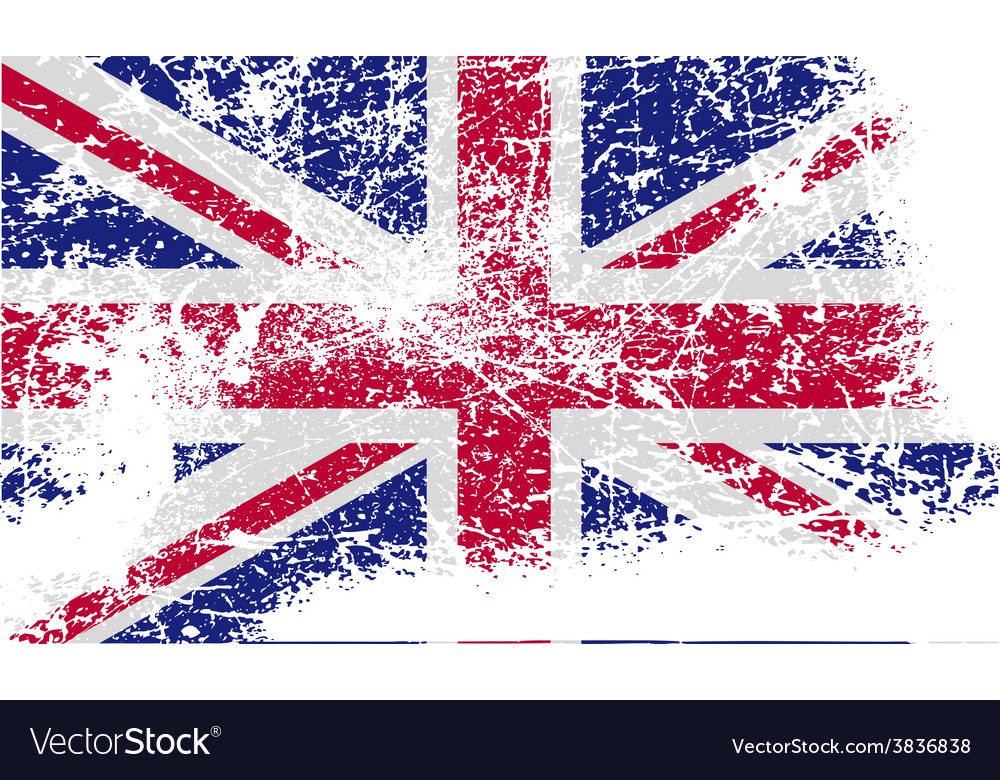 Flag of united kingdom with old texture vector   Price: 1 Credit (USD $1)