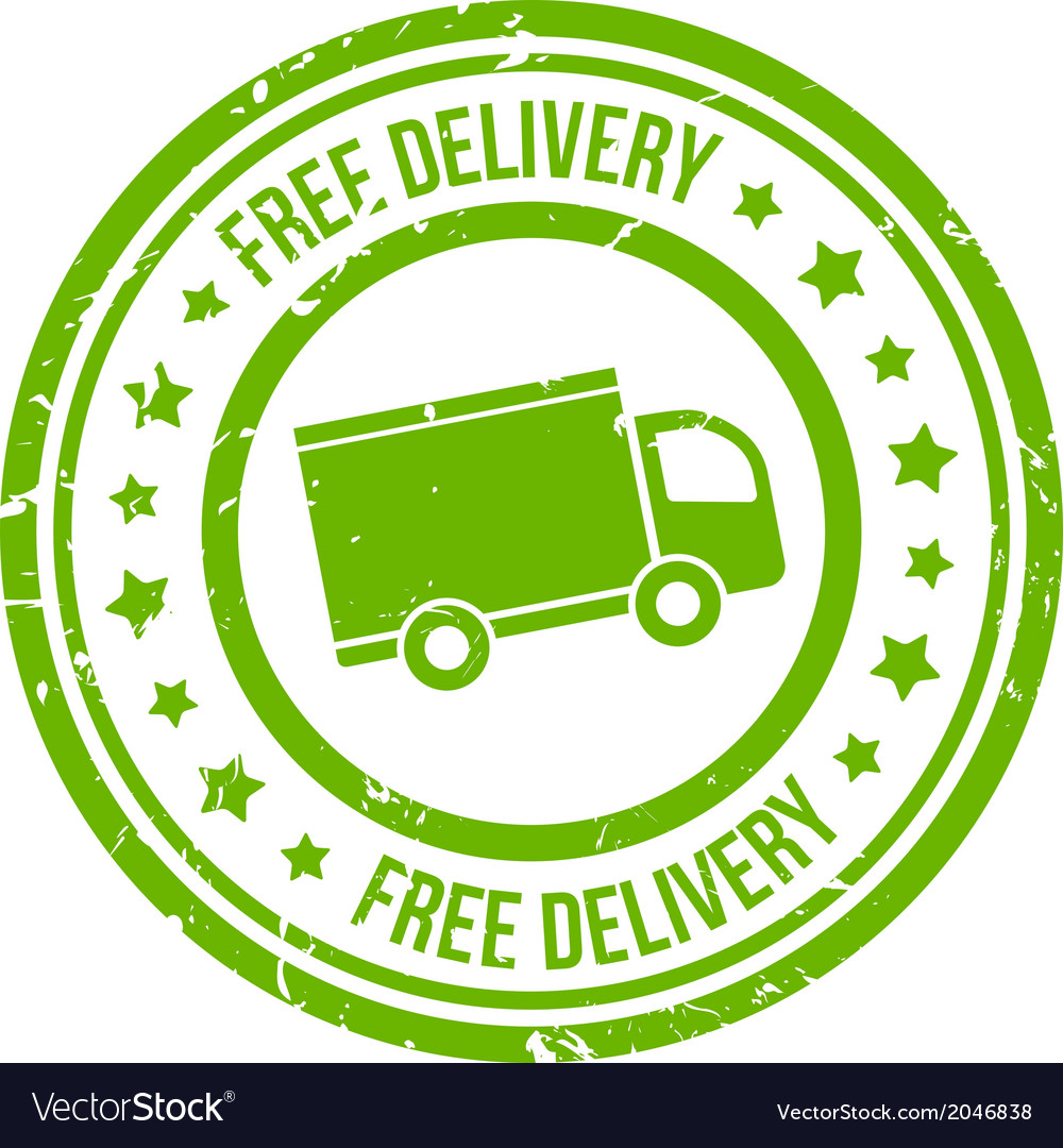 Free delivery stamp vector | Price: 1 Credit (USD $1)