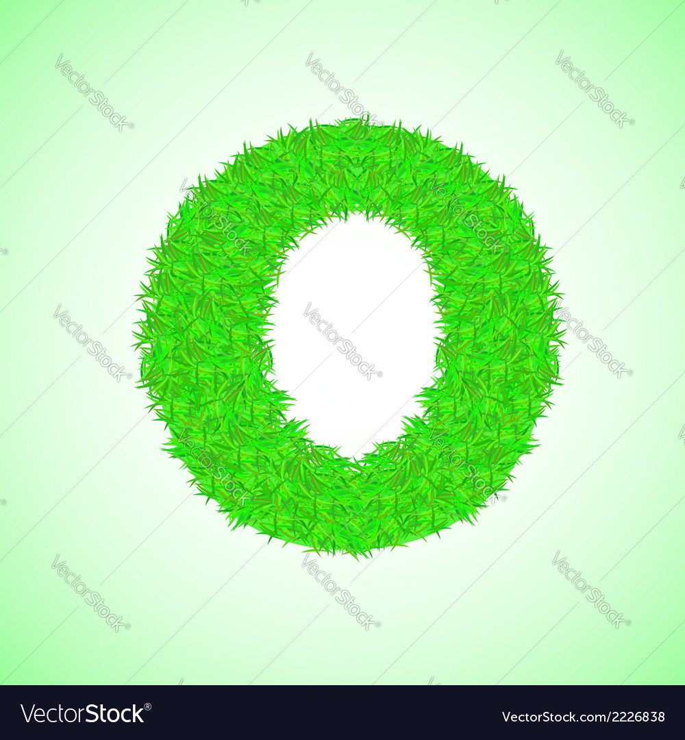 Grass letter o vector | Price: 1 Credit (USD $1)