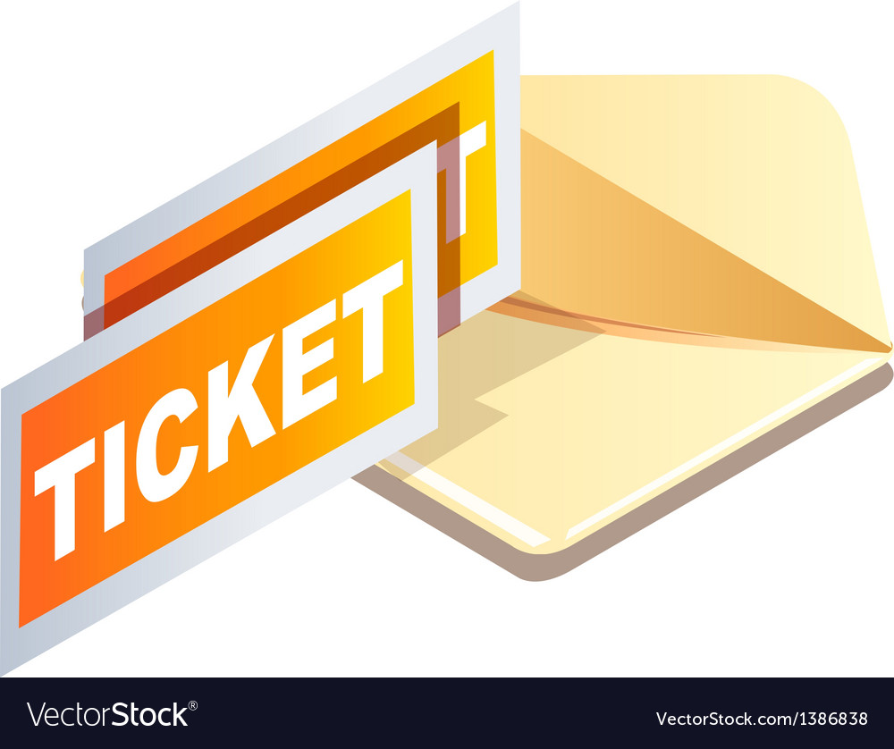 Icon tickets vector | Price: 1 Credit (USD $1)