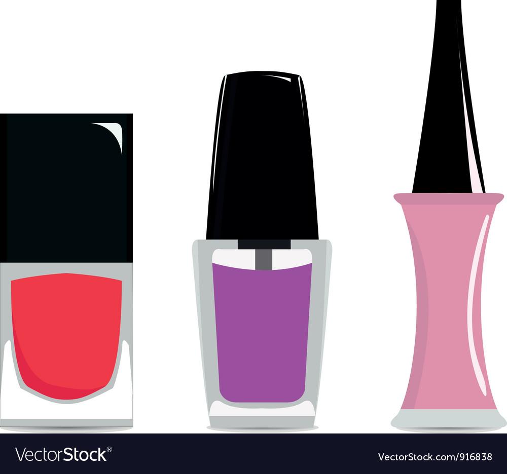 Nail polishes vector | Price: 1 Credit (USD $1)