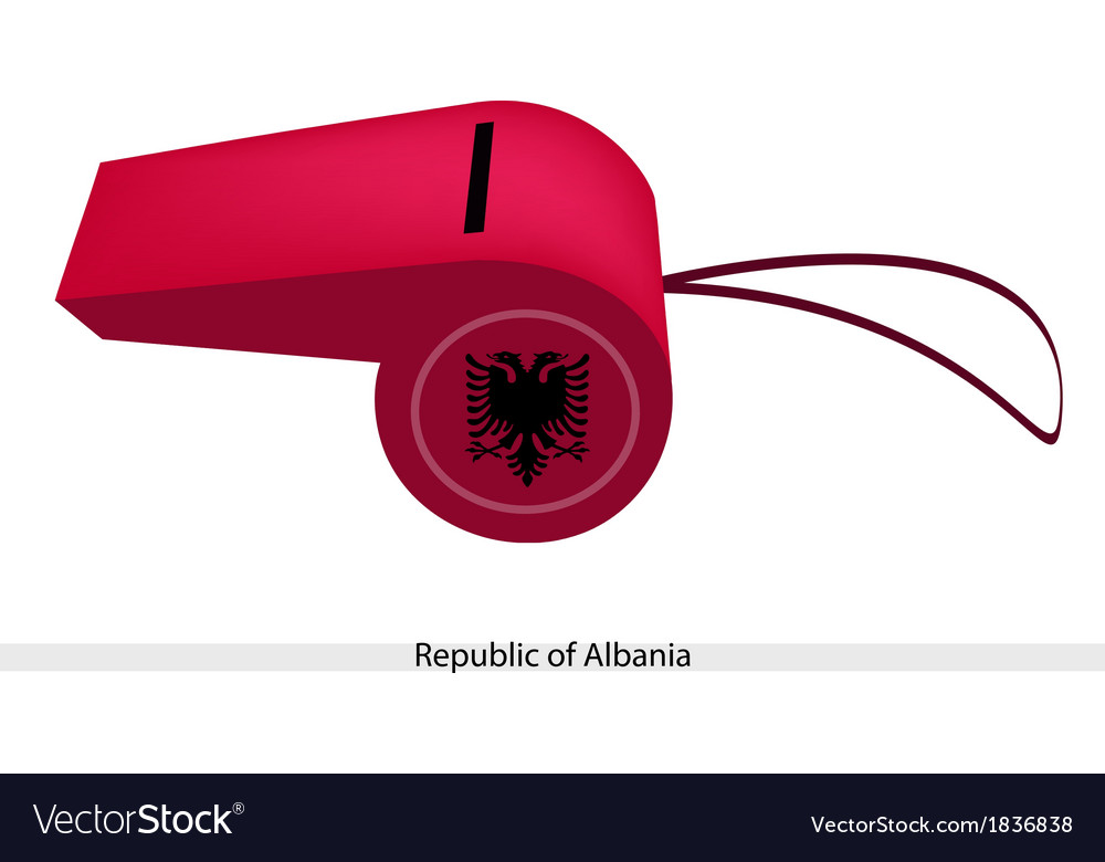 Red whistle of the republic of albania vector | Price: 1 Credit (USD $1)