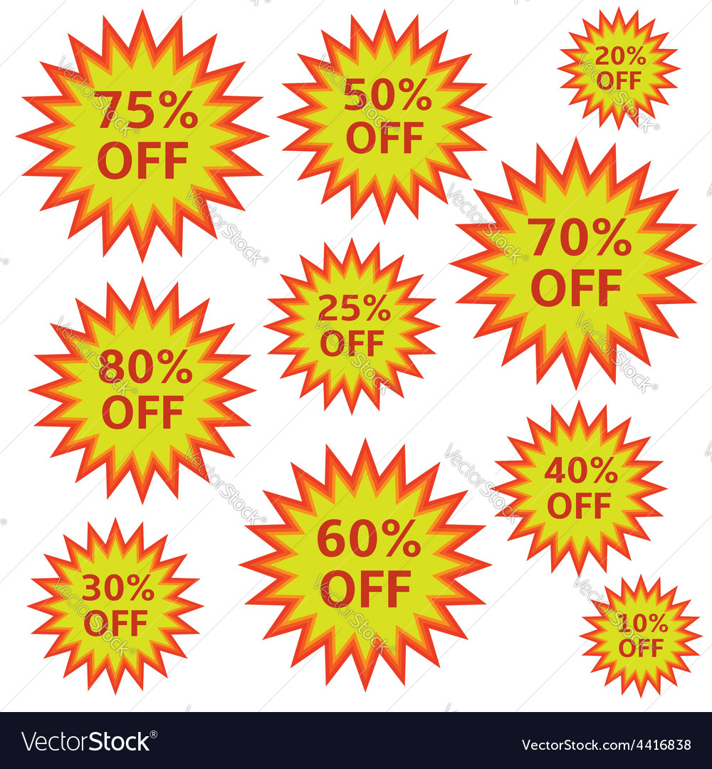 Shopping labels vector | Price: 1 Credit (USD $1)