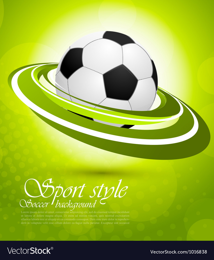 Sport background in green color vector | Price: 1 Credit (USD $1)