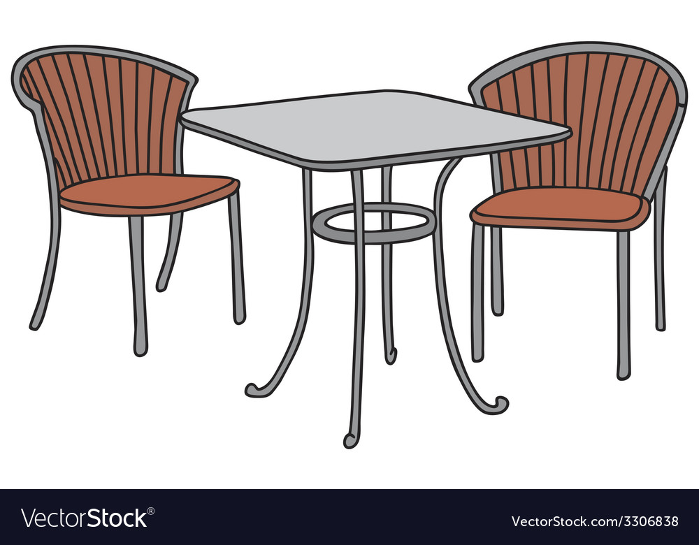 Table and armchairs vector | Price: 1 Credit (USD $1)