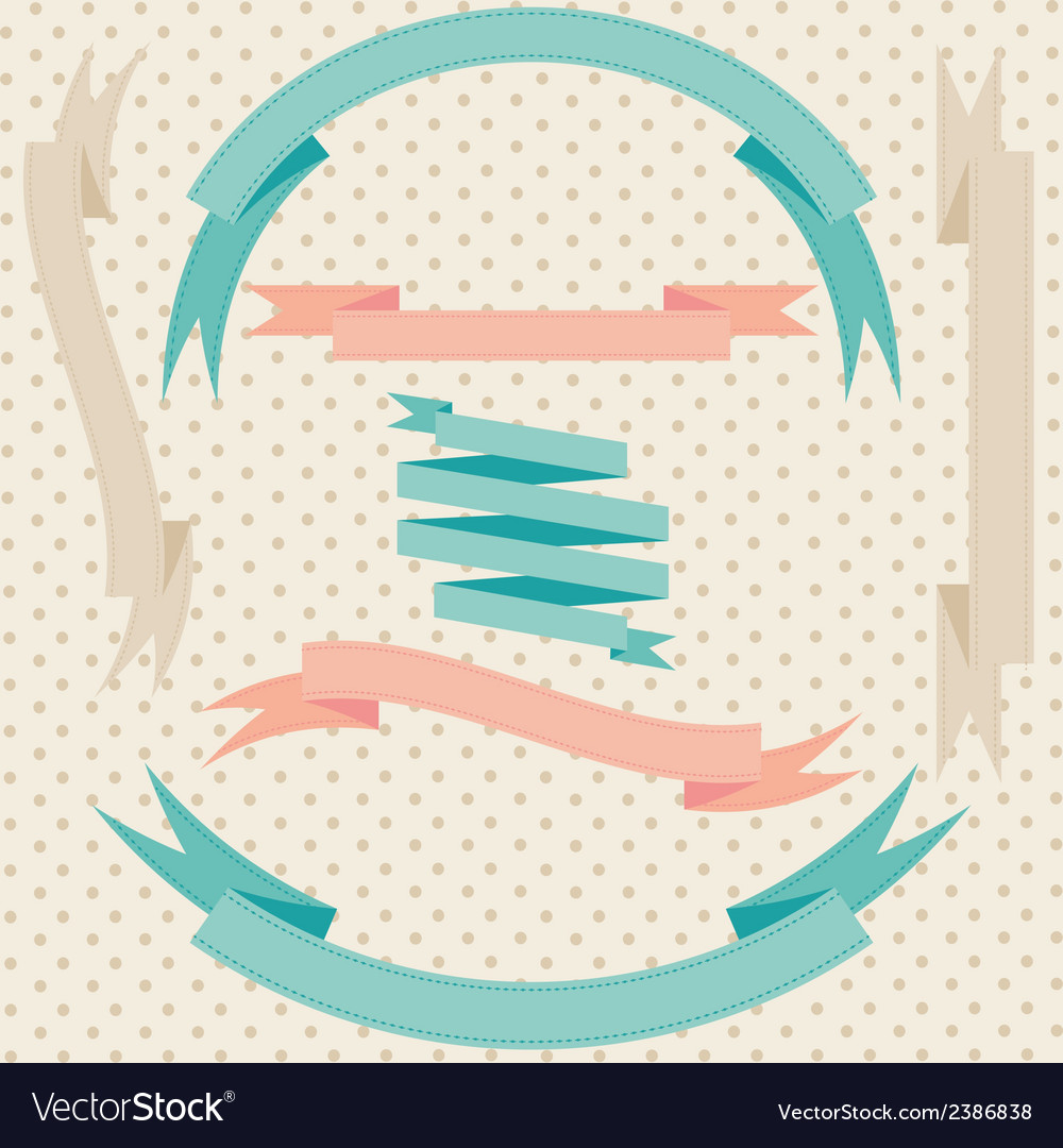 Vintage retro ribbons in vintage style vector | Price: 1 Credit (USD $1)